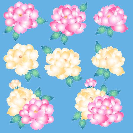 japanese style: Japanese style peony