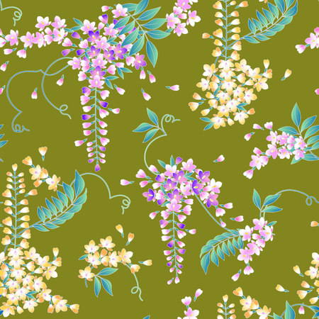 style: Japanese style wisteria pattern