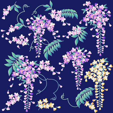 dyeing: Japanese style wisteria