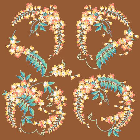 japanese style: Japanese style wisteria