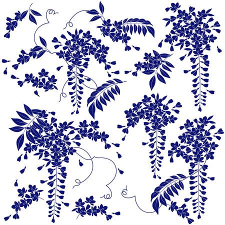 Glycines de style japonais Banque d'images - 58032466