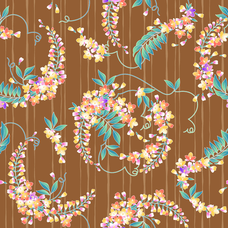 japanese style: Japanese style wisteria pattern