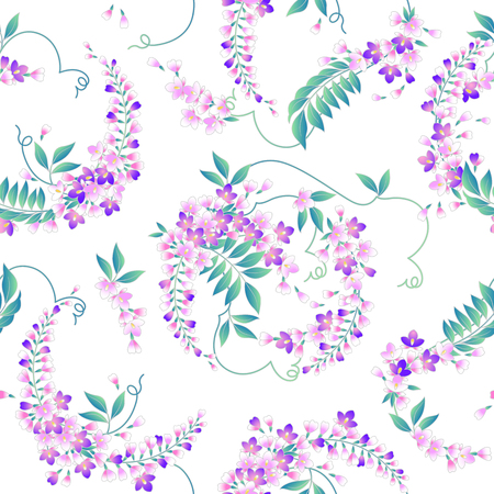 dyeing: Japanese style wisteria pattern