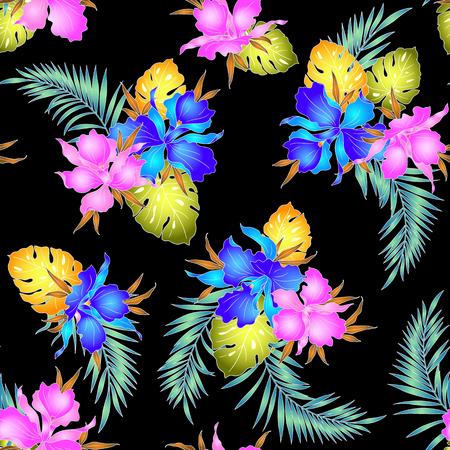 tahiti: Tropical orchid pattern