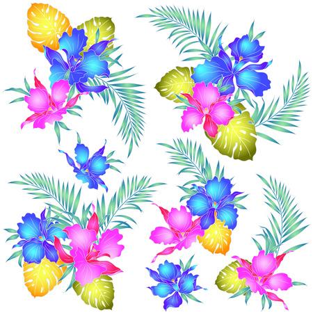 vigorous: Tropical orchid illustration