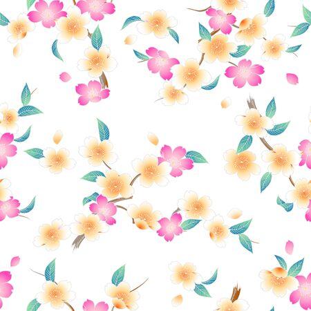 japanese style: Japanese style cherry blossom pattern