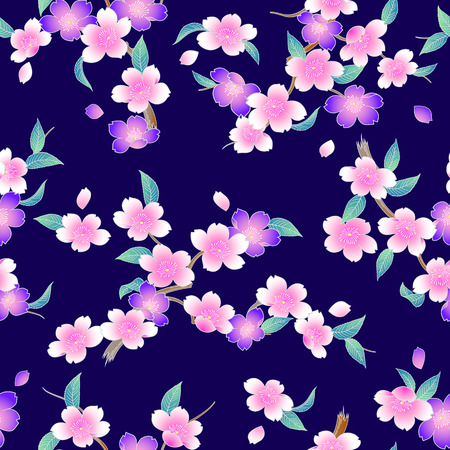 Japanese style cherry blossom pattern