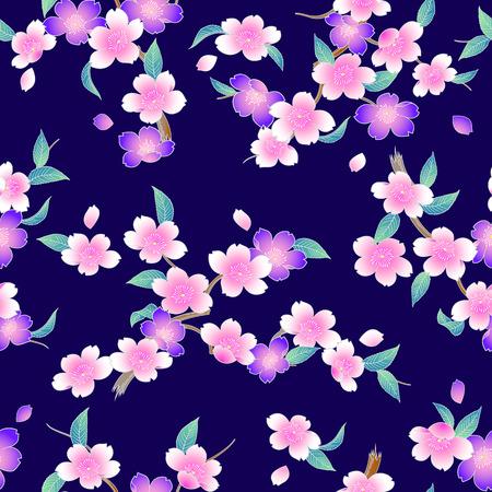 Japanese style cherry blossom pattern