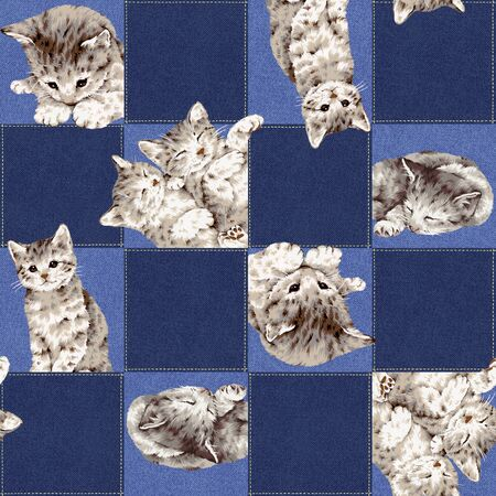 patching: Pretty cat pattern