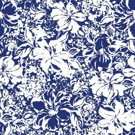 Illustratie van de bloem patroon