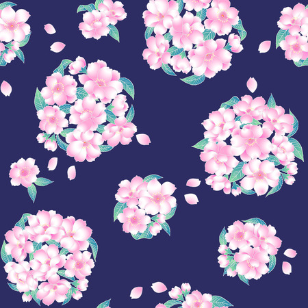 handicrafts: Japanese style cherry pattern