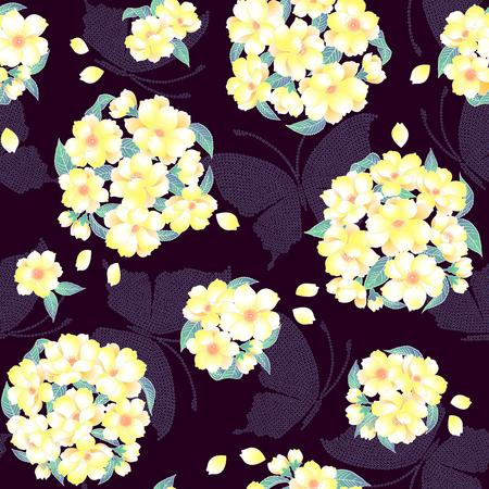 japanese style: Japanese style cherry pattern