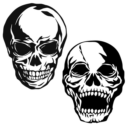 immoral: Skull illustration,