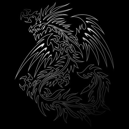 combative: Dragon illustration
