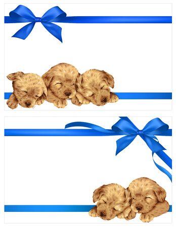 Decoración de perro y de la cinta
