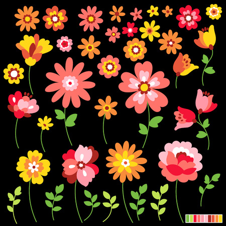 Flower illustration object Illustration