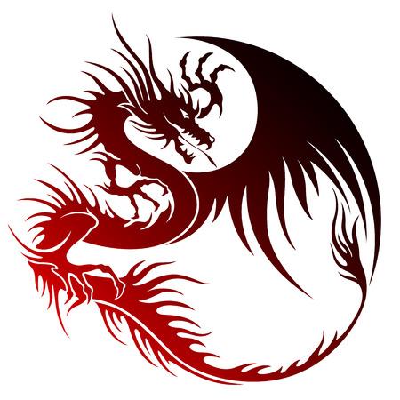combative: Dragon illustration object