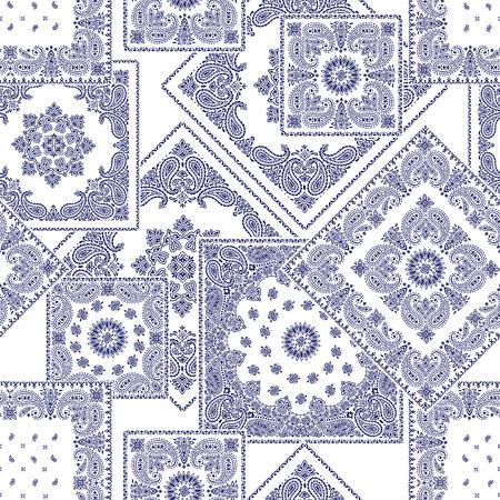 line work: Bandanna pattern design Illustration