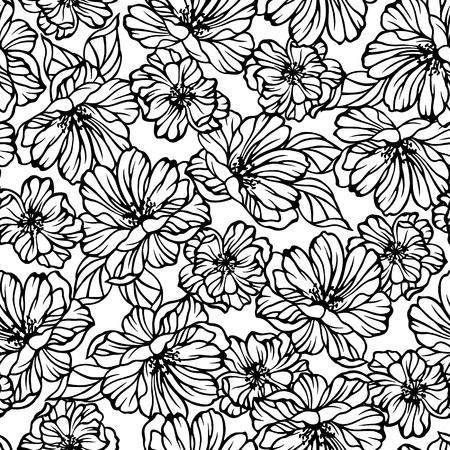 Patrón de la ilustración de la flor Ilustración de vector