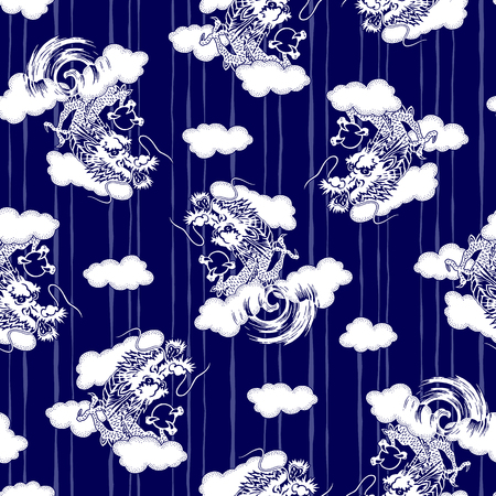 vigor: Japanese style dragon pattern Illustration