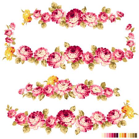 Rose flower decoration illustration,