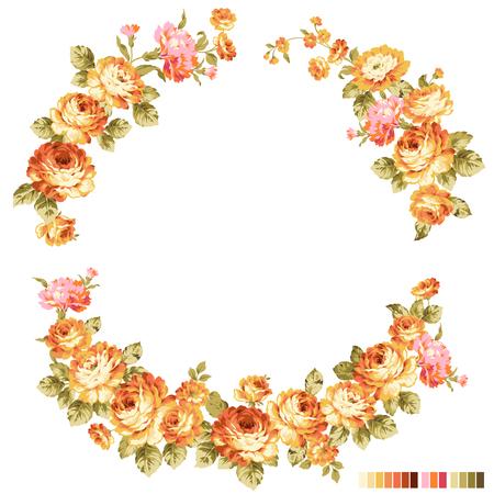 バラの花装飾図
