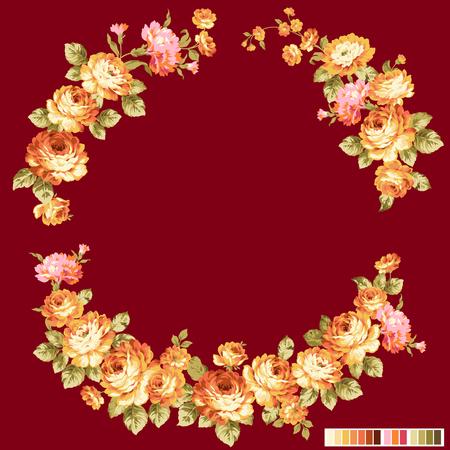 corsage: Rose flower decoration illustration,