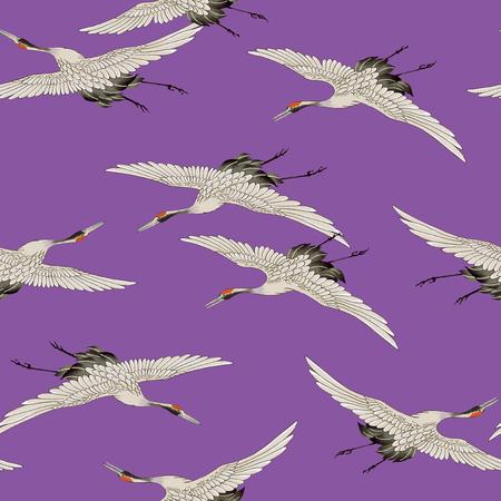 japanese culture: Japanese style crane pattern