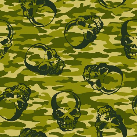 superstitious: Skull camouflage pattern,