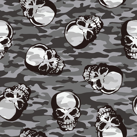superstition: Skull camouflage pattern,