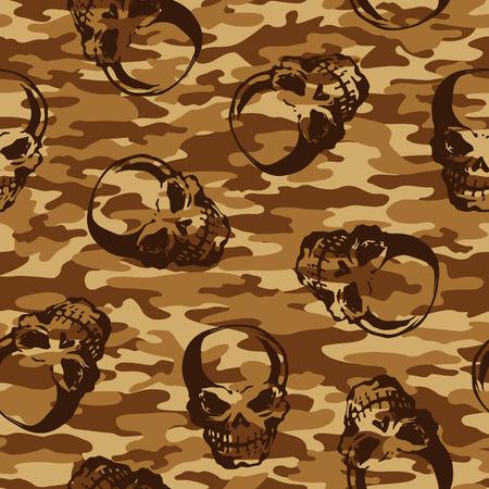 rebellious: Skull camouflage pattern,