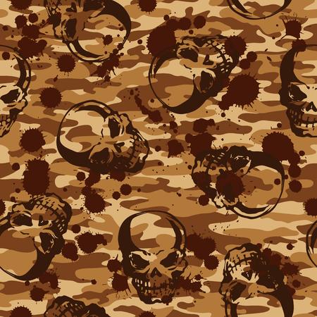 villain: Skull camouflage pattern,