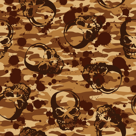 devil's bones: Skull camouflage pattern,