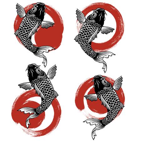 carp and holograph Illustration