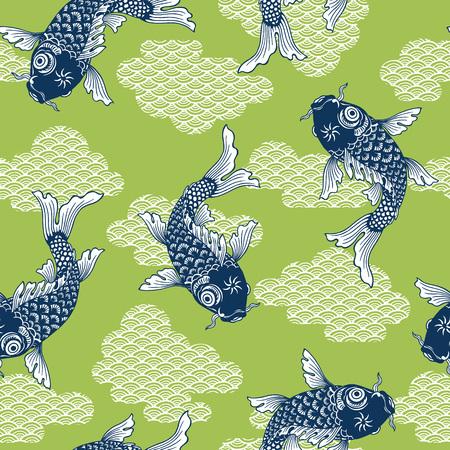 Japanese style carp pattern