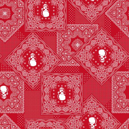 Bandanna pattern design Illustration