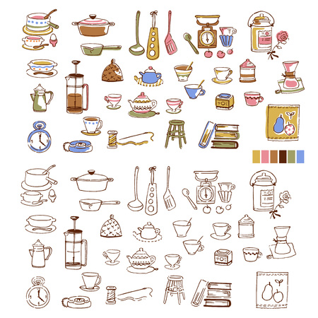 Illustration of the tableware,