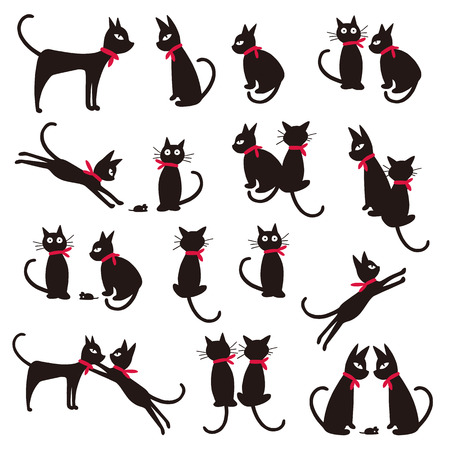 Pretty cat illustration