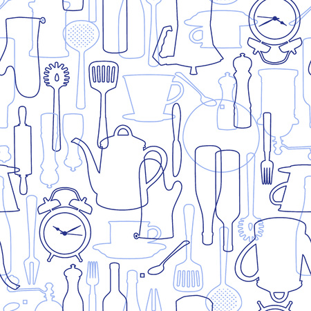 cooking time: the pattern of tableware,