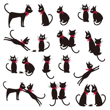 예쁜 고양이 그림 일러스트