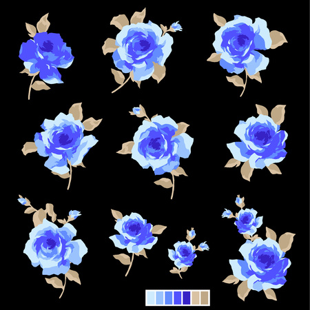 corsage: Abstract rose flower, Illustration