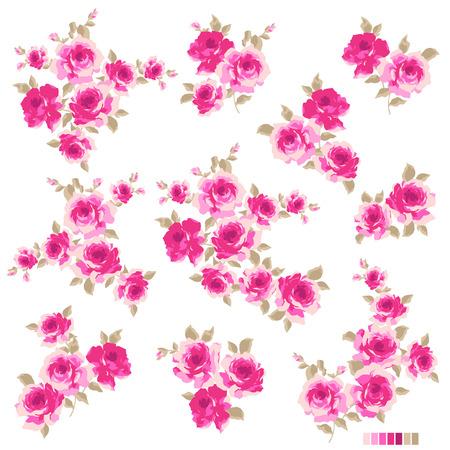 抽象的なバラの花  イラスト・ベクター素材