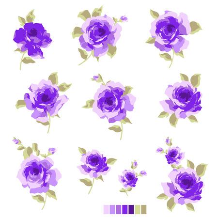 Abstract rose flower, Illustration