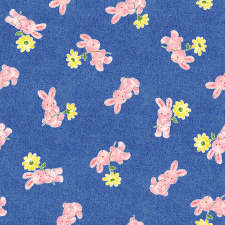 mischief: Pretty rabbit pattern Stock Photo