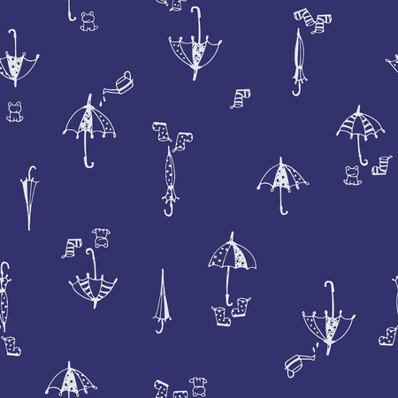 Illustration pattern of umbrella