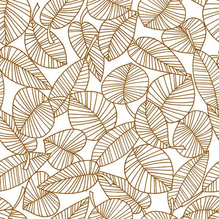 illustration motif feuille Vecteurs