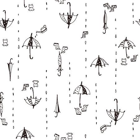 Illustration pattern of umbrella