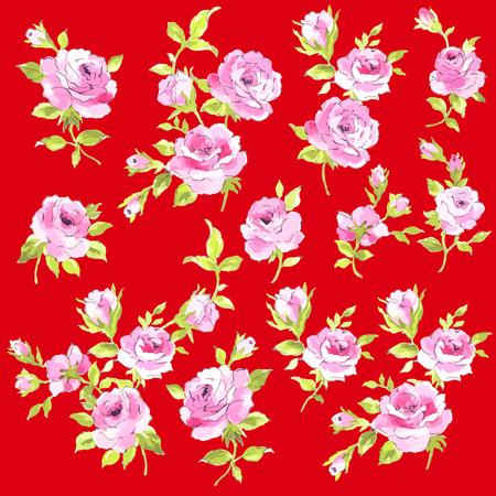 Abstract rose flower Illustration