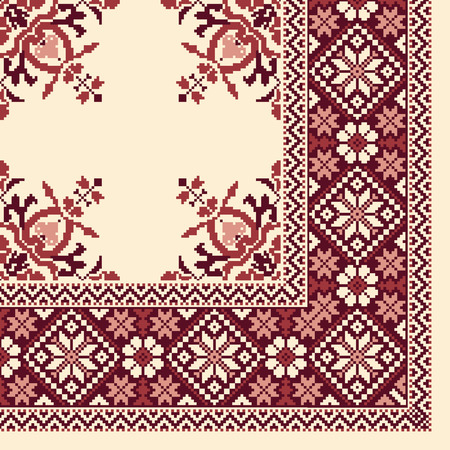 Nordic tradition pattern scarf