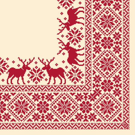 nordic: Nordic tradition pattern scarf